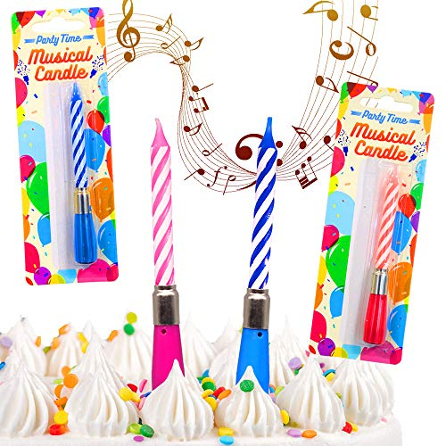 German Trendseller® - 6 x Magische Geburtstags - Kerzen mit - Geburtstagsmusik ┃ Kindergeburtstag ┃ Geburtstags - Kuchen ┃ 6 Kerzen mit Musik