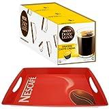 Nescafé Dolce Gusto 1.Advent-Se, Weihnachts-Sett: 3x Caffè Crema Grande + Nescafé Tablett
