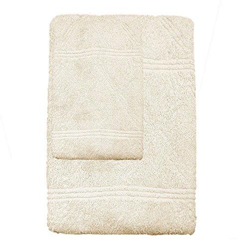 Zucchi basics set spugna asciugamano + ospite weaves (beige)