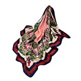 Xmiral Damen Schal Mode Farbverlauf Landschaft Print Long Square Schals(Silber)