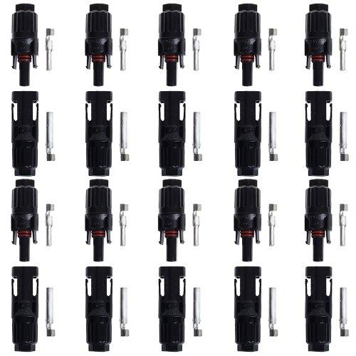BTSKY™ 10 Paar MC4 Solarstecker Solar 10 Stecker 10 Buchse Kupplung Stecker Neu