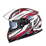 OLEEKA Casco moto doppia visiera G-1009 Caschi moto integrale viso Moto cavaliere equipaggiamento taglia M L XL