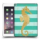 Head Case Designs Offizielle Paul Brent Gold Seahorse Küsten Ruckseite Hülle für iPad Air 2 (2014)