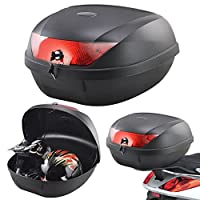 Tekbox Universal 52L Motorcycle 2 Helmet Top Box Luggage Storage For Motorbike Moped Back Rear Box
