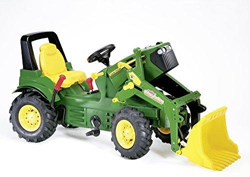 Imagen principal de Schneider Novus 71 012 6 J. Deere 7930 - Tractor miniatura con neumáticos, transmisión, frenos y pala de carga (146 cm) [importado de Alemania]