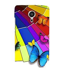 Vizagbeats Color butterflies Back Case Cover for MEIZU MX 5