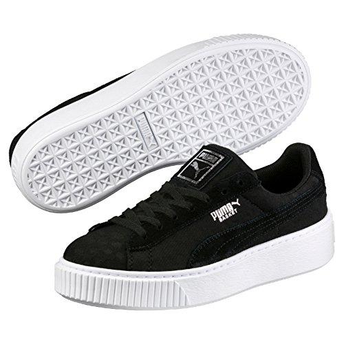 Puma Damen Basket Platform De Sneaker, Schwarz (Black-Black), 39 EU (Schuhe Puma)