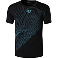 Jeansian Hombre Camisetas Deportivas Wicking Quick Dry tee T-Shirt Sport Tops LSL133
