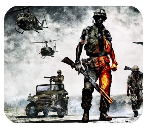 Battlefield Bad Company Vietnam Mousepad Personalized Custom Mouse Pad Oblong Shaped In 9.84