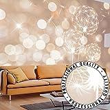 FOTOTAPETE VLIES PREMIUM: 350x245 cm (BxH) - bedruckt auf deutscher Premium Vliesleinwand - Keine Papiertapete ! - 3 Farben zur Auswahl - Top - Tapete - Wandbilder XXL - Wandbild - Bild - Fototapeten - Tapeten - Wandtapete - Pusteblume Blumen bokeh Abstrakt beige weiß f-C-0040-a-d