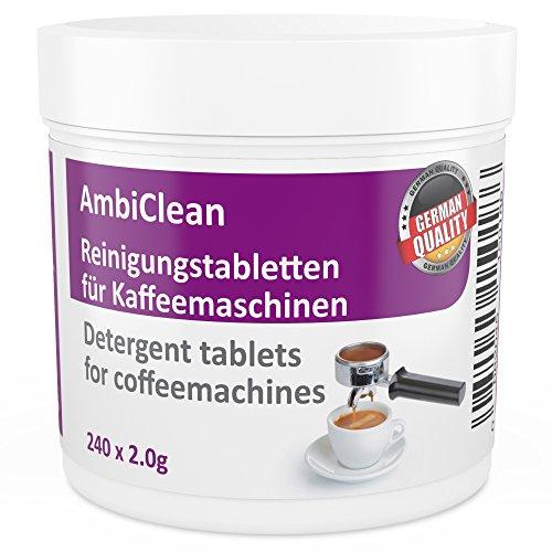 Reinigungstabletten für Kaffeevollautomat und Kaffee-Maschine | 240 Tabletten kompatibel mit Jura,...