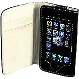 No-Name Kunstleder-Tasche für Apple iPhone 4/4S, schwarz