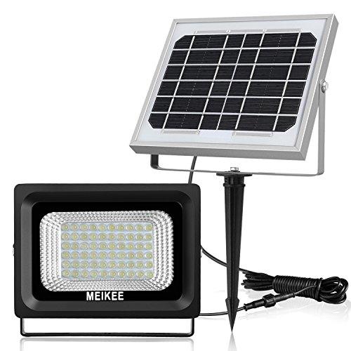 MEIKEE Faretto Solare di 60 LED da Esterno, Auto-induzione Faro LED, Faretto Solare a Controllo della Luce, LED Giardino Luce di Solare, 300 Lumen 6000K, Impermeabile IP66 per Giardino, Corridoio,