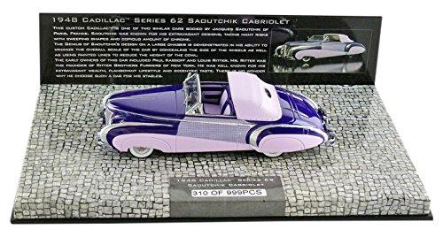 Minichamps-437148460-Cadillac Serie 62Cabrio Coach Builder- 1948-Maßstab 1/43-Violett