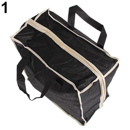 hefeibiaoduanjia Tragbare Tasche für Zuhause, Reisen, Gepäck, Schuhe, Aufbewahrung, Reißverschluss und Staubbeutel, Schwarz -