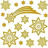 Herma 5905 Fensterbilder Sterne und Schweif, 30 x 30 mm