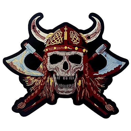 Preisvergleich Produktbild Patch Aufnäher Biker Totenkopf Viking