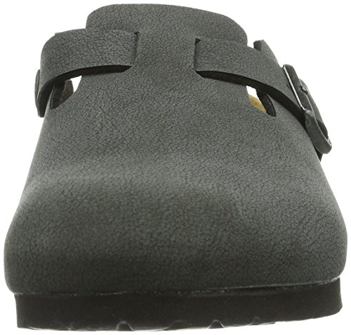 Birkenstock Classic Boston Unisex - Erwachsene Clogs Schwarz (Brushed Black)