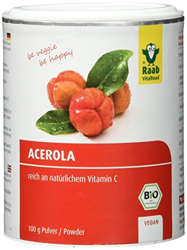 Raab Vitalfood Bio-Acerola Pulver 100 g, 1-er Pack (1 x 100 g) - Bio
