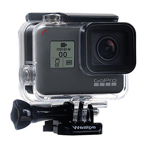 Wealpe Wasserdichtes Gehäuse Tauchgehäuse Schutzgehäuse Kompatibel mit GoPro Hero 7 Schwarz, 6, 5, Hero (2018) Kameras
