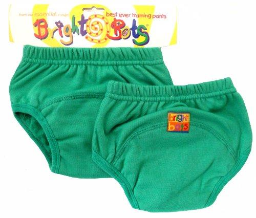 Bright Bots - Mutandine di apprendimento, confezione doppia, XL, 30 - 36 mesi, colore: Verde