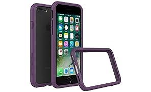 RhinoShield Custodia Protettiva per iPhone 8 Plus/iPhone 7 Plus [CrashGuard] | Custodia Protettiva Antiurto con Design Sottile [Protezione Contro Le Cadute da 3,5 M] - Viola