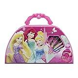50-teiliges Kinder Malset im Koffer Disney Prinzessinnen Malkoffer Stifte