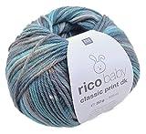 Wolle Rico Baby Classic Print DK, 50g, ca. 165m blau-grau Mix