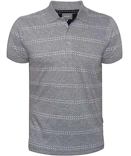 Peter Werth Elsworth Mens Grey Short-Sleeved Polo Shirt