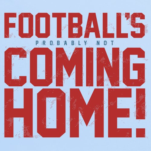 Football's Coming Home T-Shirt, Damen Himmelblau