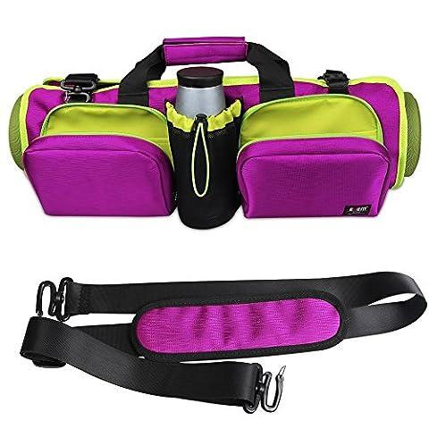 Homeself multifunktionale Tasche für Yogamatte, wasserdicht, für alle Größen von Matten, für Yoga oder Pilates, große Taschen für anderes Zubehör: Wasserflasche, Handtuch, mit Trägern, für persönliche Gegenstände, mit innerem Kleidungsfach mit Reißverschluss