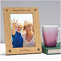 "Happy Mothers Day PERSONALISED Engraved Photo Frame for Her Mummy Mum Nanny Nan - Mothers Day Gifts Presents - Mum Mummy Nanny Nan Nanna Gran Granny - 5"" x 7"" and 6"" x 4"" Photo Picture Frames"
