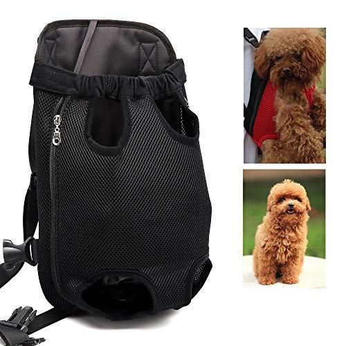 Dog Seat Cover Pet Travel Rucksack Hund, Klein, Schwarz, Adjustable, Control, Soft Side Carrier Shoulder Bag für Haustiere Hunde Puppy Cats (S/M/L/XL)