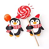 Wawer 50 x Santa Claus Penguin Christmas Card Lolly Sugar-Loaf Xmas Party Toy (Colour B)