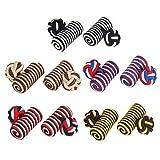 Larcele Retro Bottoni Eleganti per Camicie Gemelli di seta Regalo Set per Nozze Attività commerciale 5 paio CSXK-01 (Stile 3614)