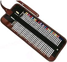 E. Life-Lienzo decorativo (Wrap Soporte 36/48/72agujeros Funda Blanda de lápices de rollo de núcleos enrollable estilo múltiples utilizar con estuche bolsa organizador estuche para lápices de colores (no incluye lápices)