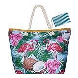 Czoele Große Wasserdicht Strandtasche mit Reißverschluss und Innentasche Sommer TascheVerschluss...