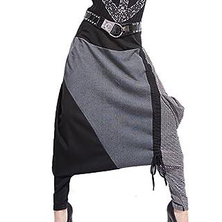 Aubig Ladies Baggy Harem Pants Sweatpants Trousers Hip Hop Dance Skirts Womens - Black