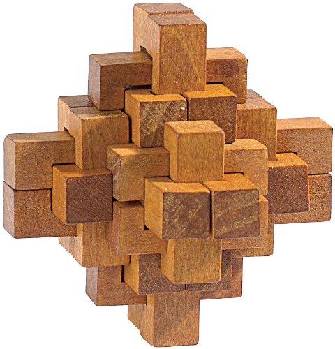 Playtastic-Geduldspiele-aus-Holz-Geduldspiel-Der-verhexte-Knoten-Anspruchvolle-Knobelspiele Playtastic 3D Puzzle: Geduldspiel Der verhexte Knoten (Geduldspiel Holz) -