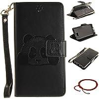 GOCDLJ PU Hülle per Huawei Y5 II Muster, Ultra Slim Leder Flip Cover Tasche Ledertasche Handytasche Pattern Buchstil... preisvergleich bei billige-tabletten.eu