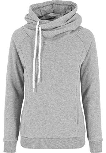Urban Classics Damen Pullover Pullover Raglan High Neck Hoody grau (Grau) Medium