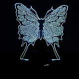 3D luz de la noche LED colorida lámpara de mariposa tridimensional moda visual ahorro de energía ojo regalo acrílico regalo de vacaciones lámpara de mesa