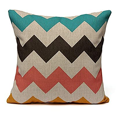 TOOGOO(R)Geometric Triangle Waves Cushion Cover Throw Pillow Case Sofa Decor 43cmX43cm produced by TOOGOO(R) - quick delivery from UK.