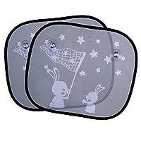 eBoot 2 parti auto finestra visiere finestra auto finestra toni di sole conigli bianchi ciechi UV per bambini bambini neonati sedili posteriori  Visiere anti UV:  Le tonalità auto solari possono proteggere la tua famiglia da un sole crudele ...