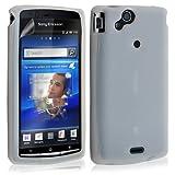 Housse etui coque silicone pour Sony Ericsson Xperia x12 Arc / Arc S couleur blanc transparent + film ecran