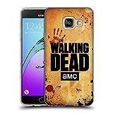 Offizielle AMC The Walking Dead Aufgeschobert Logo Soft Gel Hülle für Samsung Galaxy A3 (2016)