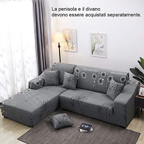 Tutto incluso copridivano elastico 1/2/3/4 posti copridivani con una fodera per cuscino e striscia di schiuma antiscivolo (l divano sagomato È necessario acquistare 2 pezzi),a,3seater
