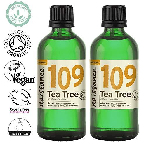 Naissance Teebaumöl BIO (Nr. 109) 200ml (2x100ml) - 100% naturreines ätherisches Öl, natürlich, bio-zertifiziert, vegan