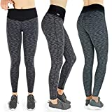 Formbelt® Damen Laufhose mit Tasche lang - Leggins Stretch-Hose hüfttasche für Smartphone iPhone Handy Schlüssel (schwarz-grau, L)