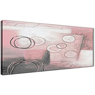 Wallfillers Blush Pink Grey Painting Living Room Canvas Pictures Accessories - Abstract 1433-120cm Print